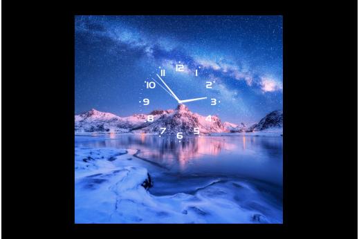 Картина-часы Звёздное небо