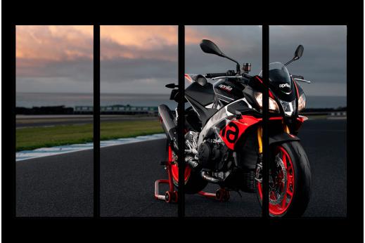 Модульная картина Мотоцикл April-red