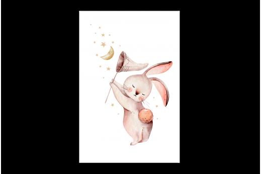 Картина Зайчик с сачком
